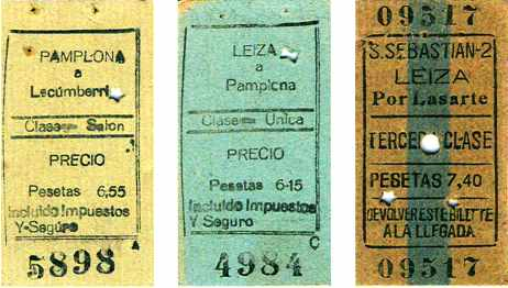 Billetes del Plazaola